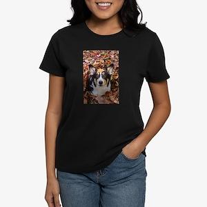 Corgi and Fall Leaves T-Shirt