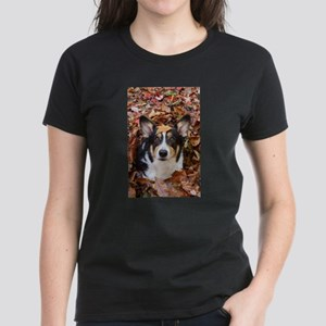 Corgi and Fall Leaves T-Shirt