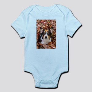 Corgi and Fall Leaves Body Suit