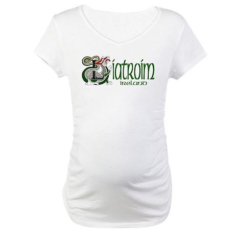 Leitrim Dragon (Gaelic) Maternity T-Shirt