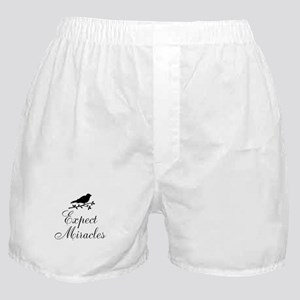 Expect Miracles Black Bird Boxer Shorts