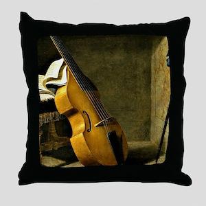 Bass Viol, Score Sheet, and a Sword Throw Pillow