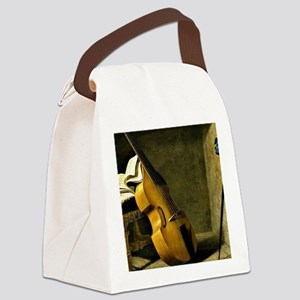 Bass Viol, Score Sheet, and a Swo Canvas Lunch Bag
