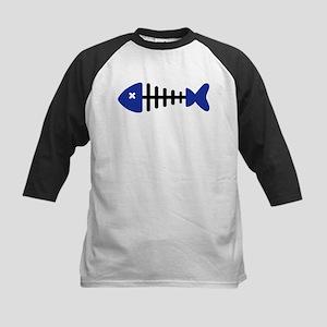 Fishbone Fish Kids Baseball Jersey