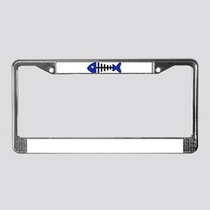 Fishbone Fish License Plate Frame