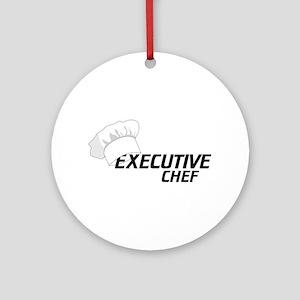 Executive Chef Ornament (Round)