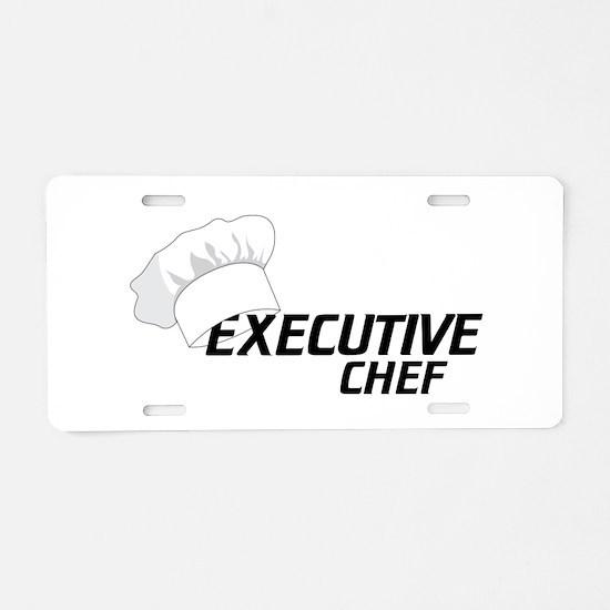 Executive Chef Aluminum License Plate