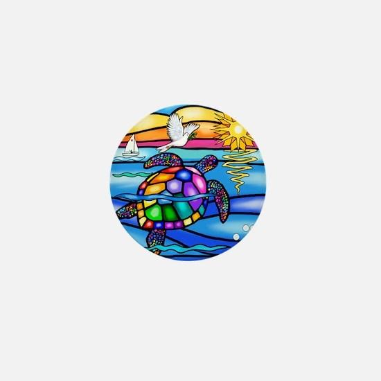 Cute Colorful turtle Mini Button