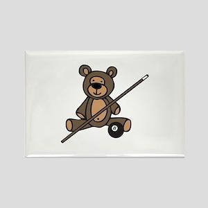 Billiards Teddy Bear Magnets