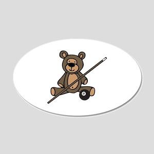 Billiards Teddy Bear Wall Decal