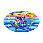 Sea Turtle #8 Oval Car Magnet