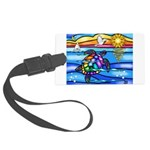 Sea Turtle #8 Large Luggage Tag
