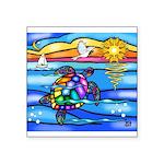 Sea Turtle #8 Square Sticker 3