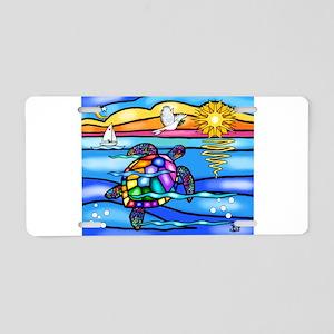 Sea Turtle #8 Aluminum License Plate