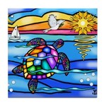 Sea Turtle #8 Tile Coaster