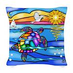 Sea Turtle #8 Woven Throw Pillow