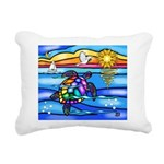 Sea Turtle #8 Rectangular Canvas Pillow