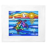 Sea Turtle #8 King Duvet