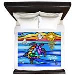 Sea Turtle #8 King Duvet
