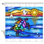Sea Turtle #8 Shower Curtain