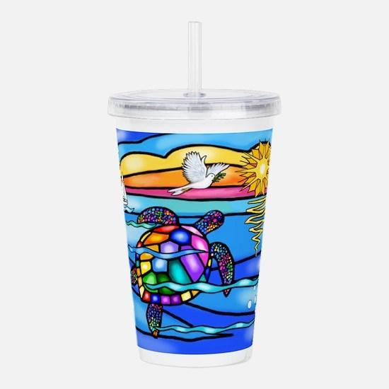 Sea Turtle #8 Acrylic Double-Wall Tumbler