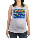 Sea Turtle #8 Maternity Tank Top