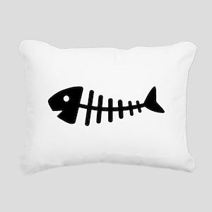 Fishbone Rectangular Canvas Pillow
