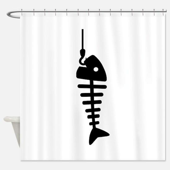 Fishbone hook Shower Curtain