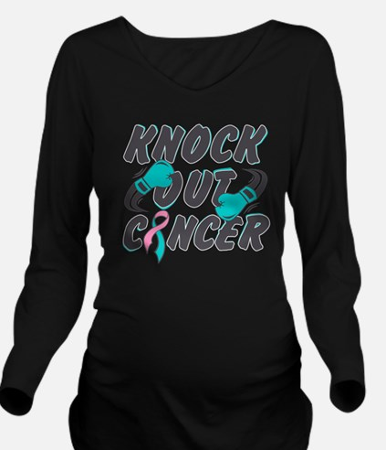 Cool Male breast cancer boxing gloves Long Sleeve Maternity T-Shirt