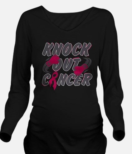 Unique Male breast cancer boxing gloves Long Sleeve Maternity T-Shirt