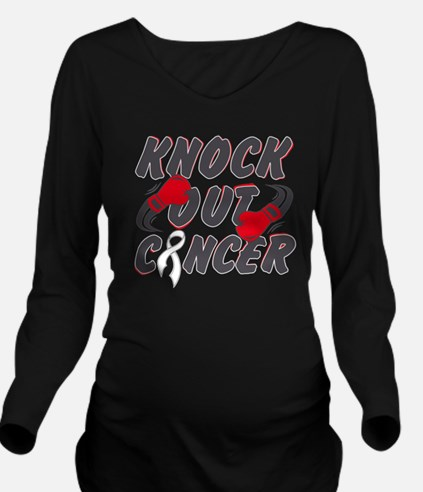 Cute Male breast cancer boxing gloves Long Sleeve Maternity T-Shirt
