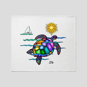 Sea Turtle (nobk) Throw Blanket