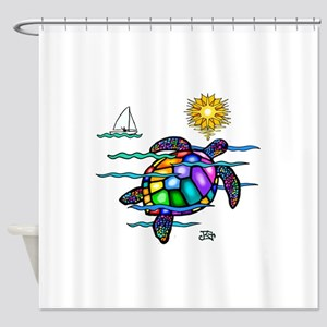 Sea Turtle (nobk) Shower Curtain
