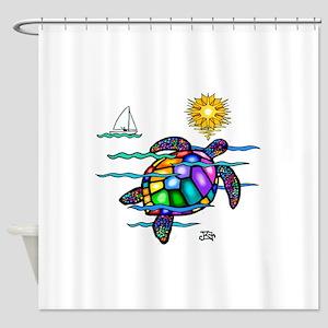 Sea Turtle (nobk) Shower Curtain