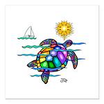 Sea Turtle (nobk) Square Car Magnet 3