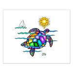 Sea Turtle (nobk) Small Poster
