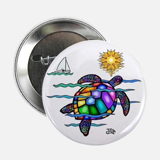 "Sea Turtle (nobk) 2.25"" Button"