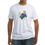 Sea Turtle (nobk) Fitted T-Shirt