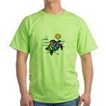 Sea Turtle (nobk) Green T-Shirt