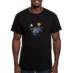 Sea Turtle (nobk) Men's Fitted T-Shirt (dark)