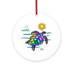 Sea Turtle (nobk) Ornament (Round)