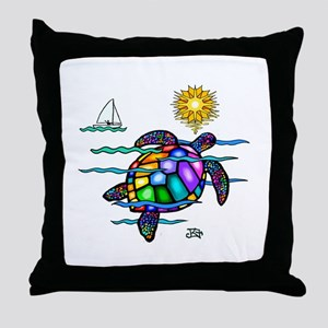 Sea Turtle (nobk) Throw Pillow