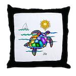 Sea Turtle (nobk) Throw Pillow