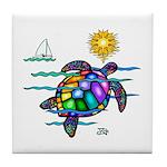 Sea Turtle (nobk) Tile Coaster