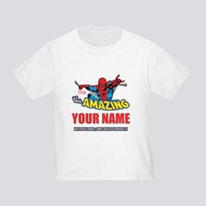 The Amazing Spider-man Personalize Toddler T-Shirt