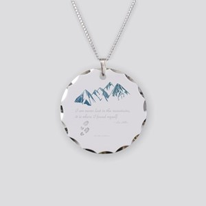 Never Lost in the Mts Necklace Circle Charm