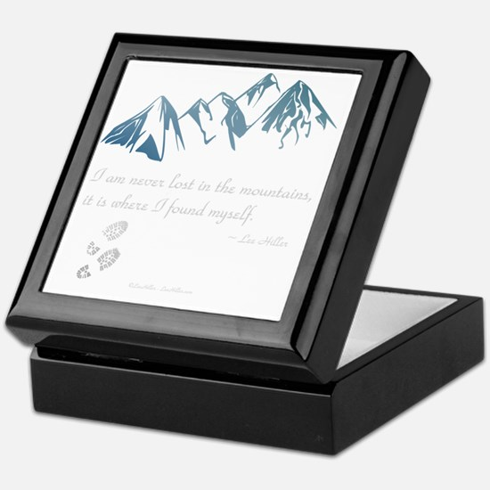 Never Lost in the Mts Keepsake Box