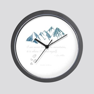 Never Lost in the Mts Wall Clock