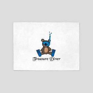 Treasure Diver 5'x7'Area Rug