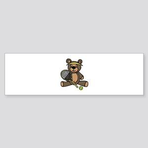 Tennis Teddy Bear Bumper Sticker